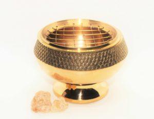 miska na vykuřování zlatá